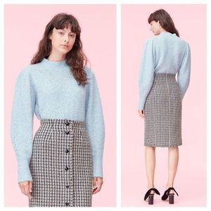 Rebecca Taylor Optic Tweed Nepped Sweater